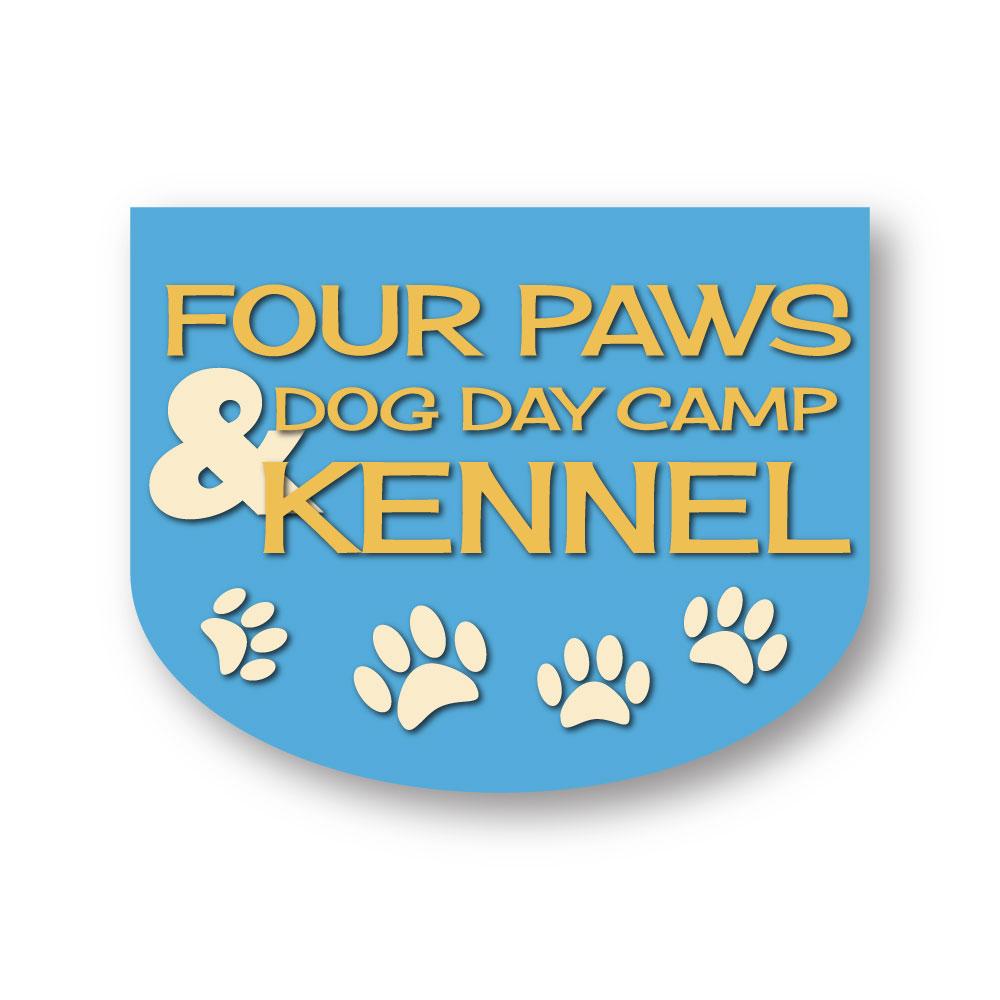 Four Paws Dog Day Camp & Kennel Logo Design Hernando County, FL