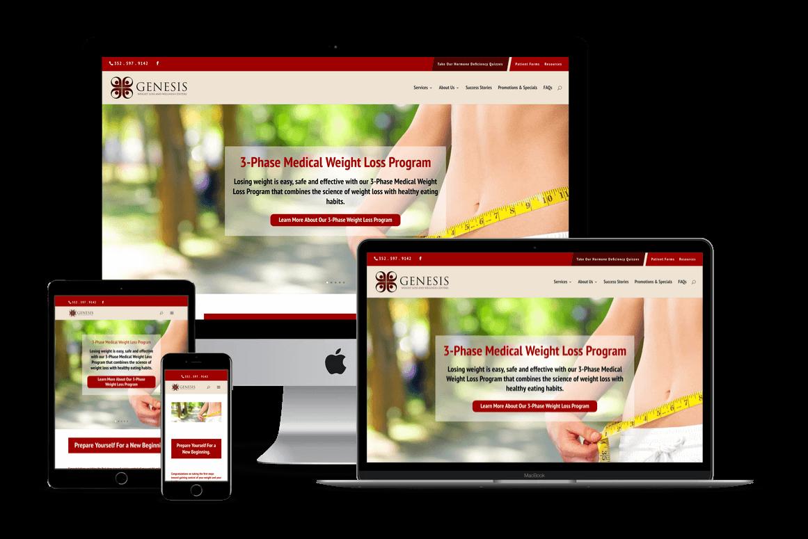 Genesis Medical Weight Loss — Brooksville, FL Website Design