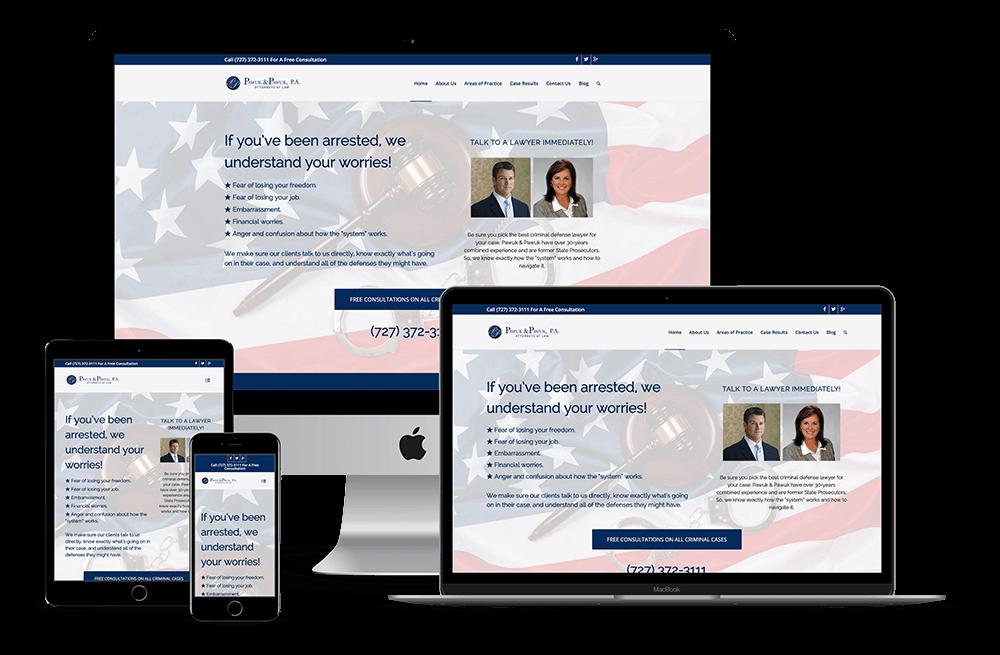 Law Firm Attorney Lawyer — New Port Richey, FL Website Design