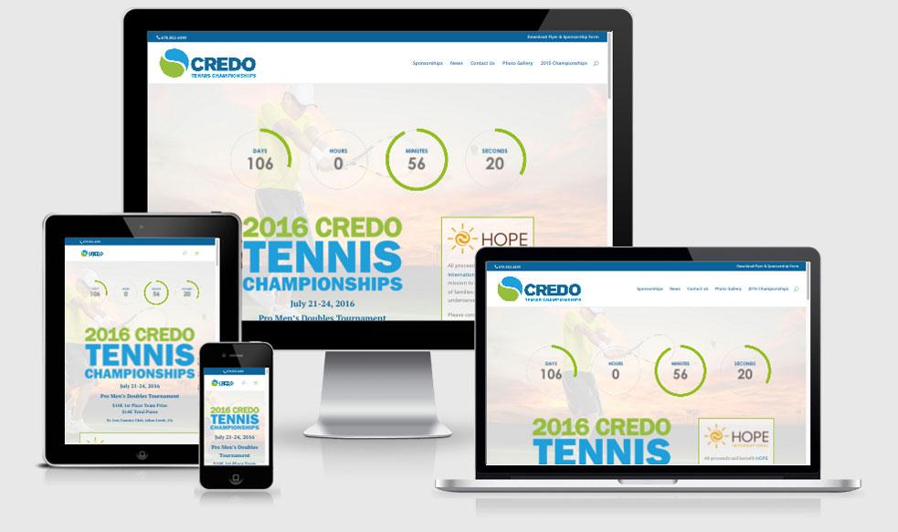 Credo Tennis Tournament — Atlanta, GA Website Design