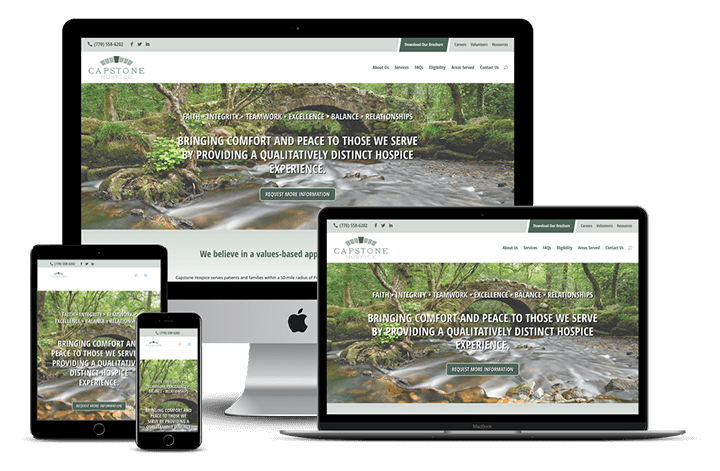 Capstone Hospice — Tampa / Hernando, FL Website Design
