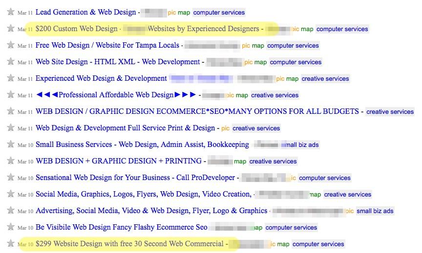Web Designers Suck Craigslist Ad
