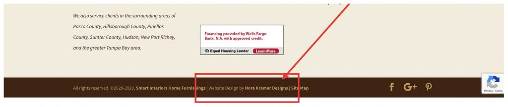 footer credit example