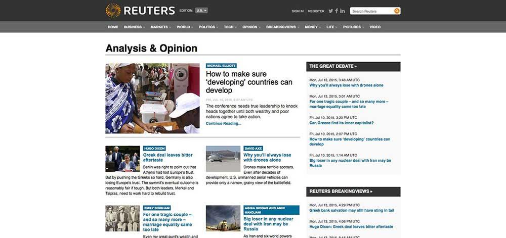 Reuters-Website