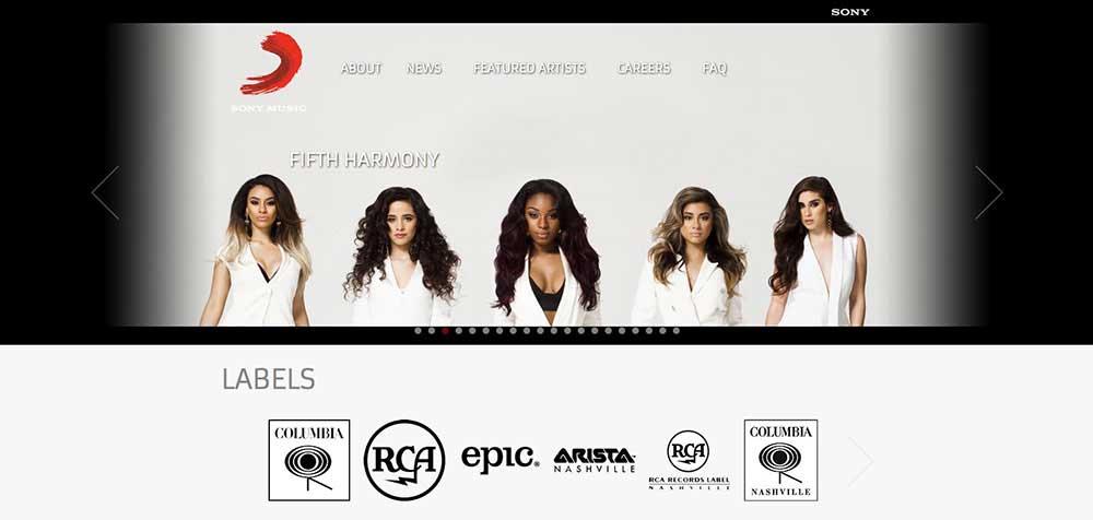 Sony-Website