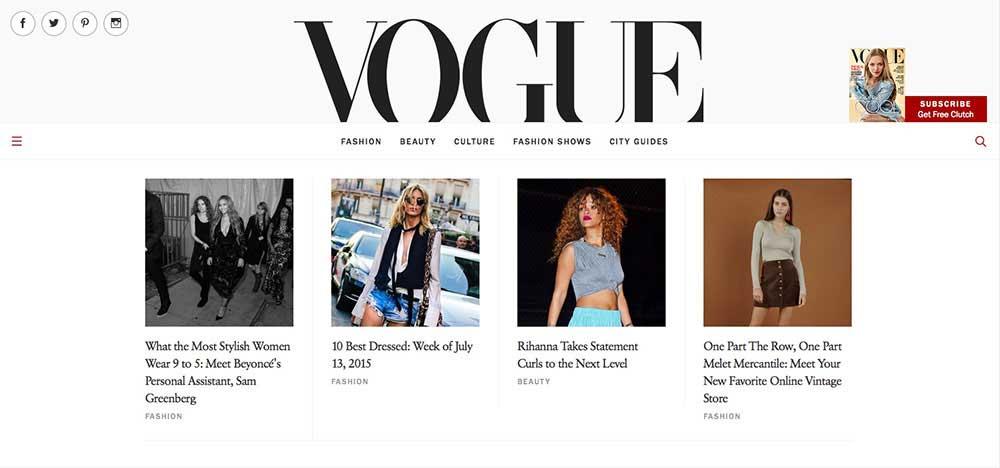 Vogue-Website