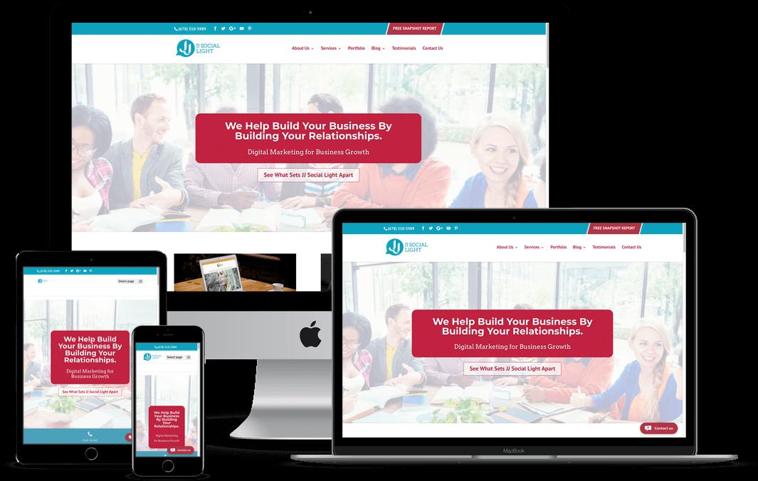 JJ Social Light — Atlanta, GA Website Design