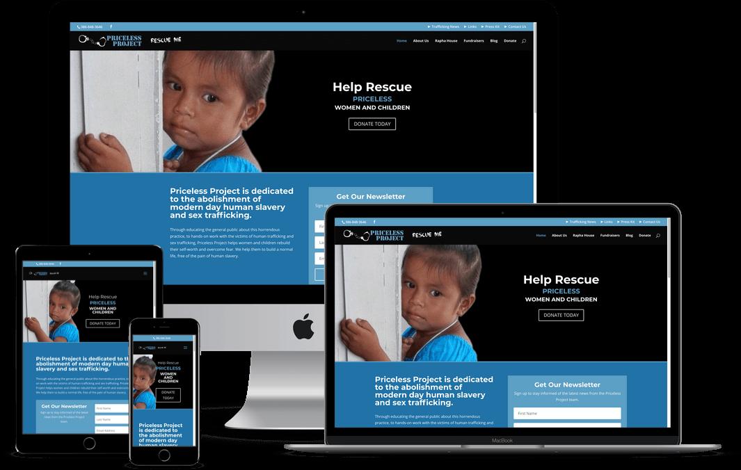 Human Trafficking Non-Profit Website Design — Orlando, FL