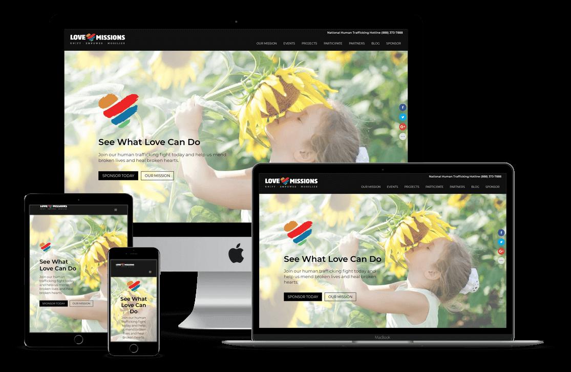 Love Missions Ministry Church Non-Profit — Orlando, FL Website Design