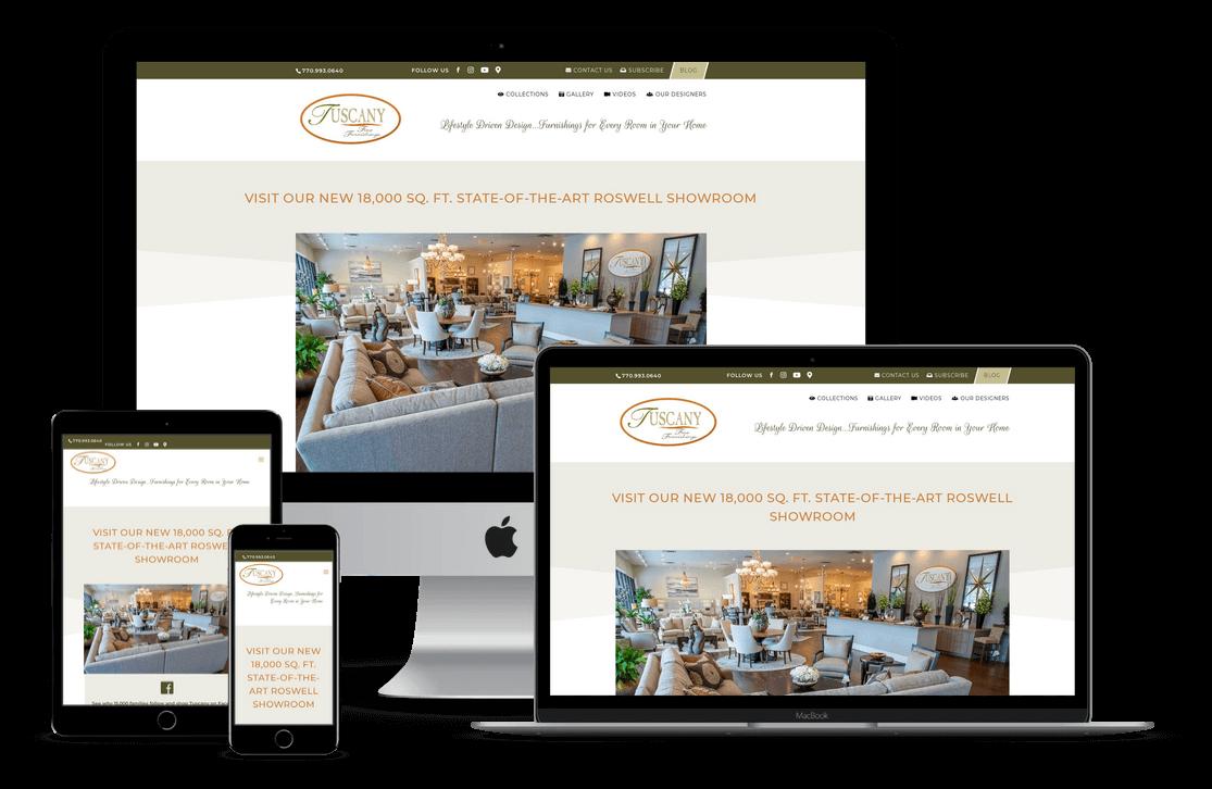 Furniture Store Website Design & Development - Tampa, FL