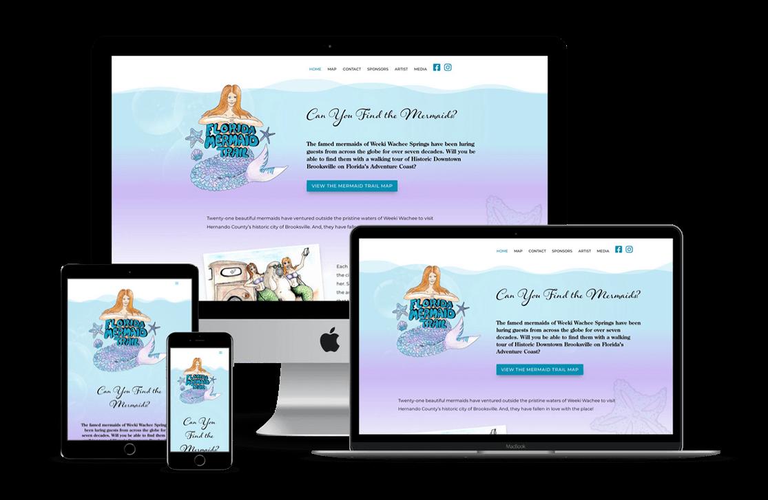 Florida Mermaid Trail Attraction Website Design — Brooksville, FL