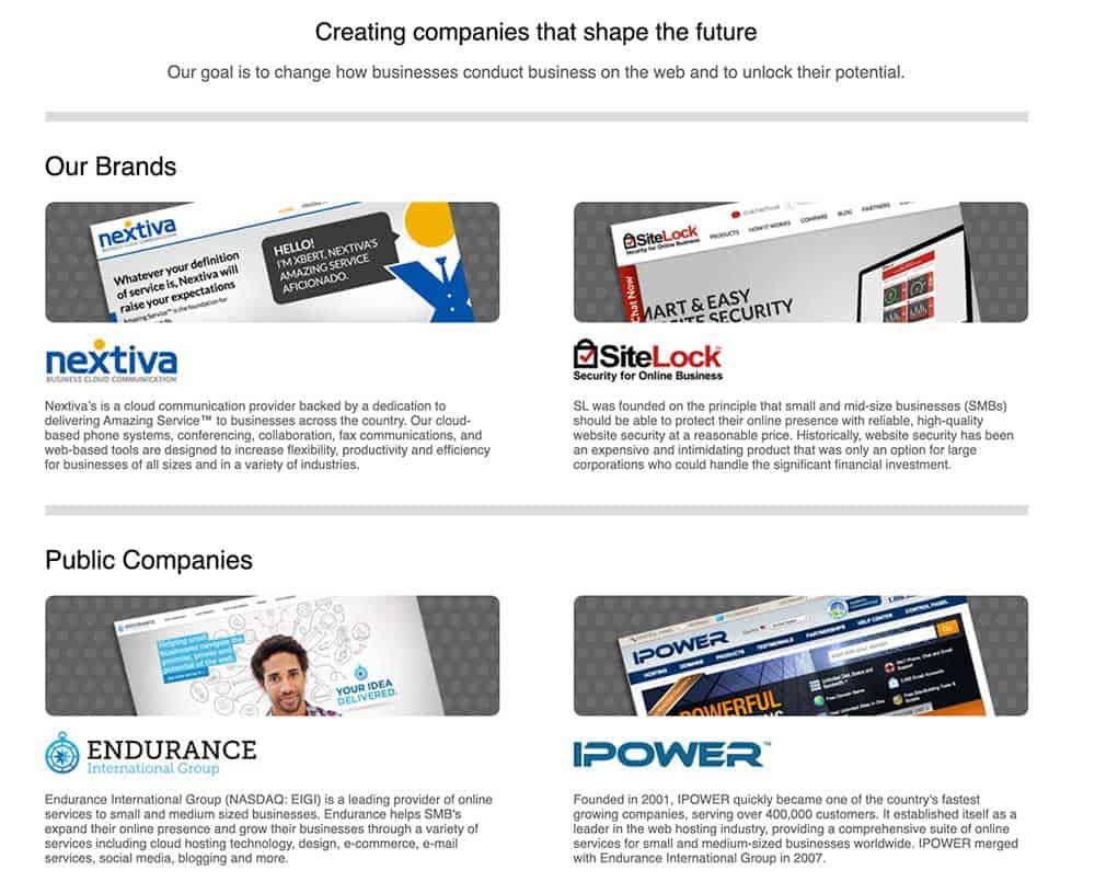 EIG + Sitelock Companies